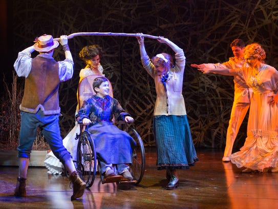 The cast of Shakespeare Theatre Company's production