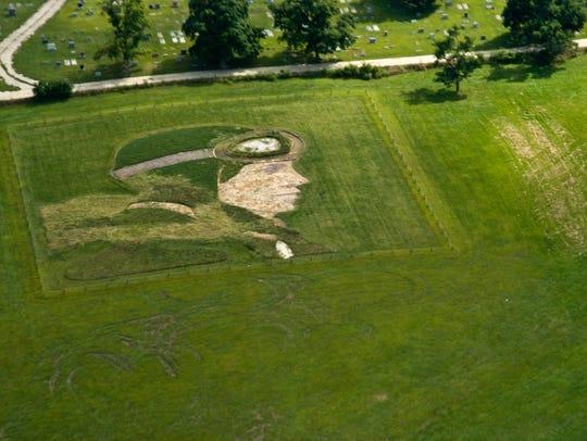 Amelia Earhart Earthwork is located in Atchison, Kan.,