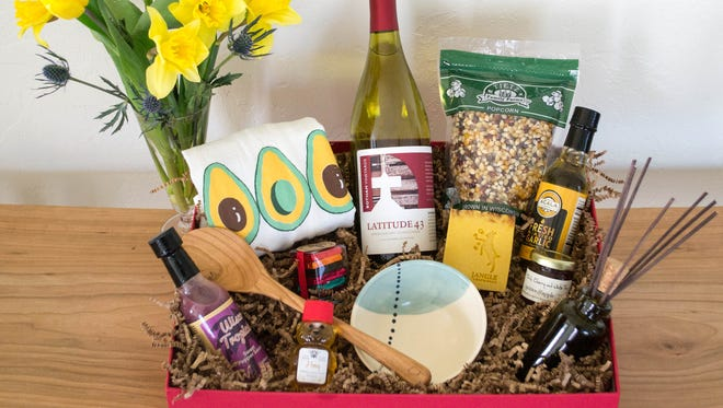 """WiscoBoxes's """"Culinary Mom"""" gift box includes a plethora of Wisconsin-made products."""