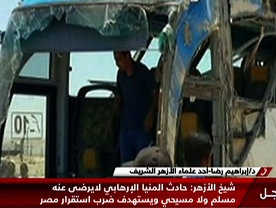 An image grab taken from Egypt's state-run Nile News