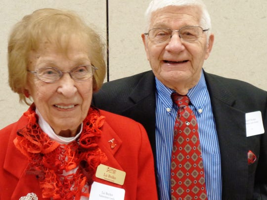 Winner of the 2018 Valentine art contest Dr. Roland Boike with his wife, past Valentine Lady Lu Boike.