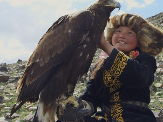"""Aisholpan, 13, sets out to become an eagle trainer despite generations of Kazakh tradition in """"The Eagle Huntress."""""""