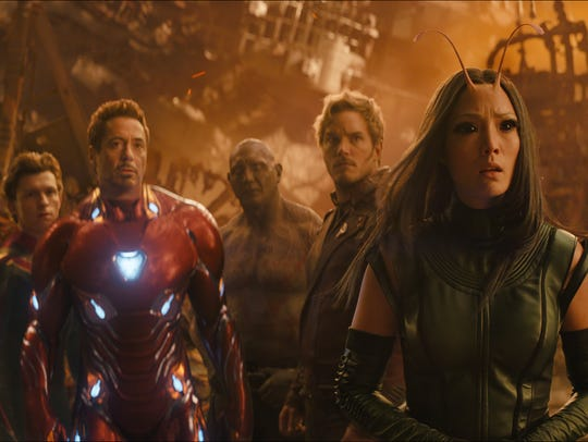 """""""Avengers: Infinity War"""" brings together (from left)"""