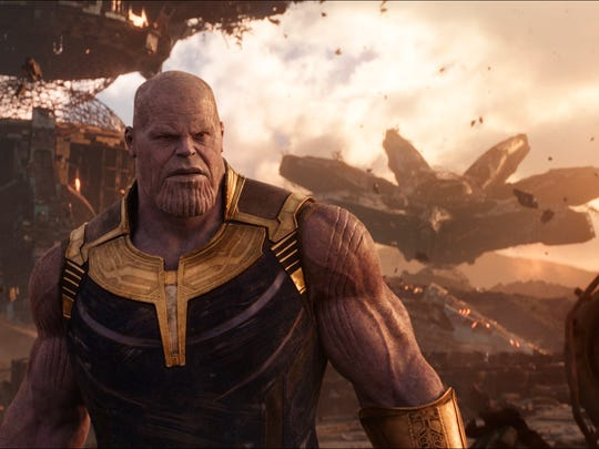 "Josh Brolin as Thanos in ""Avengers: Infinity War."""