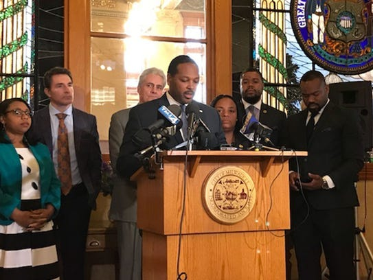 Following a Milwaukee Common Council meeting, Council President Ashanti Hamilton talks about the release of a video showing Milwaukee Bucks player Sterling Brown being tased and arrested.