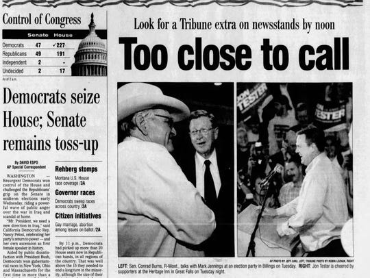 "The 2006 Senate race was ""too close to call"" on Election"