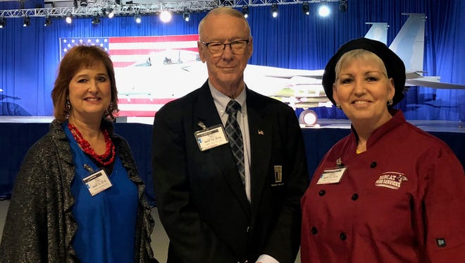 Renee Crooker, Jerry Davis and Bonnie Brazzeal went to St. Louis on Wednesday, March 14, 2018, to attend a roundtable with President Trump. Crooker nd Brazzeal are C of O employees. Davis is the college's president.