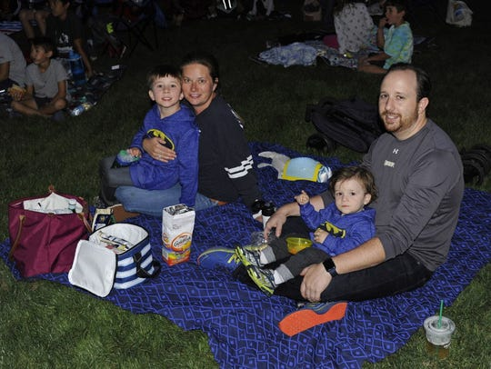 The Tullo family  enjoys the Movies Under the Stars