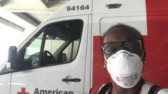 Mahogany Coward of Canton is an American Red Cross disaster-relief volunteer who recently served hurricane victims in Texas. Submitted photo