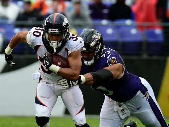 Pinckney's Zach Sieler (95) is looking to get more playing time after playing in only two games as a rookie defensive lineman with the Baltimore Ravens.