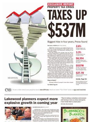Asbury Park Press front page, Sunday, January 10, 2016