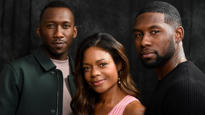 Mahershala Ali (from left), Naomie Harris and Trevante Rhodes star in 'Moonlight,' which was named best film by the Los Angeles Film Critics Association. Ali was named best supporting actor.