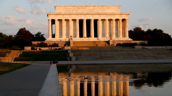 In this June 30, 2017, file photo, the Lincoln Memorial is seen in the early morning light on the National Mall.