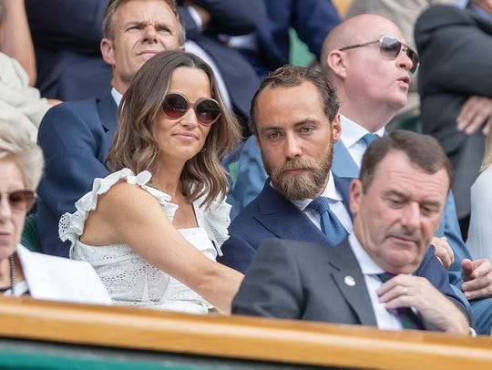 Pippa Middleton and her brother James Middleton turned out for Wimbledon in July to watch Rafael Nadal.