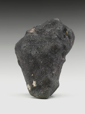 The most recent meteorite to have impacted Michigan is on display at Christie's in New York City. It will be featured in Christie's April 10-17 sale.