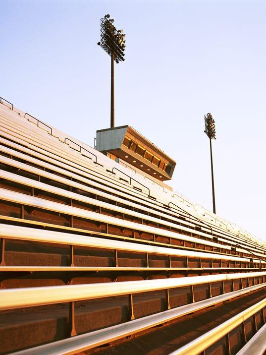 Football stadium bleachers