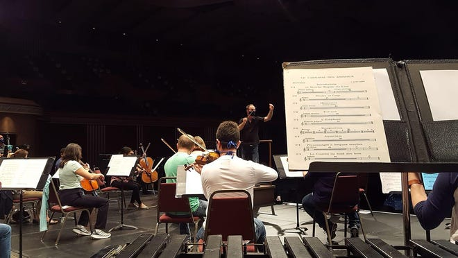 The Topeka Symphony Orchestra practices during its first rehearsal of the season in September. The orchestra will host its second concert at 7:30 p.m. Nov. 14 at the Topeka Performing Arts Center.