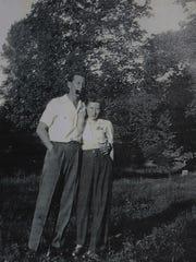 Wayne Streeter with his wife Ethel on their honeymoon