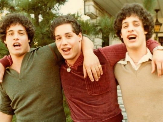 "Triplets Eddy Galland, David Kellman and Bobby Shafran from the documentary ""Three Identical Strangers."""