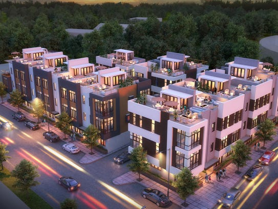 A project to build 17 townhomes is planned south of