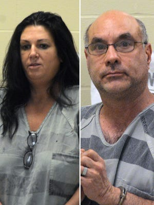 Nicole Marie Parenteau (left) and Brian Lee Price appear in court Wednesday.