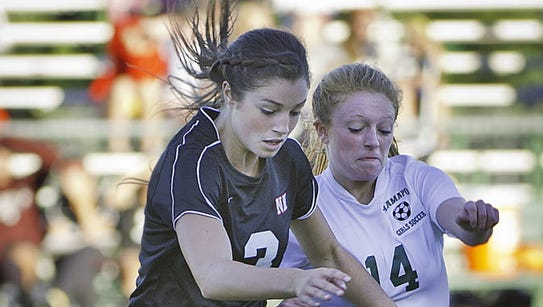 Madison Holleran, No. 3, playing soccer for Northern