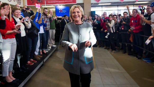 Hillary Clinton in Council Bluffs, Iowa Sunday,