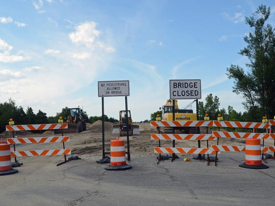 The Taylor Road overpass bridge is closed Sunday, July