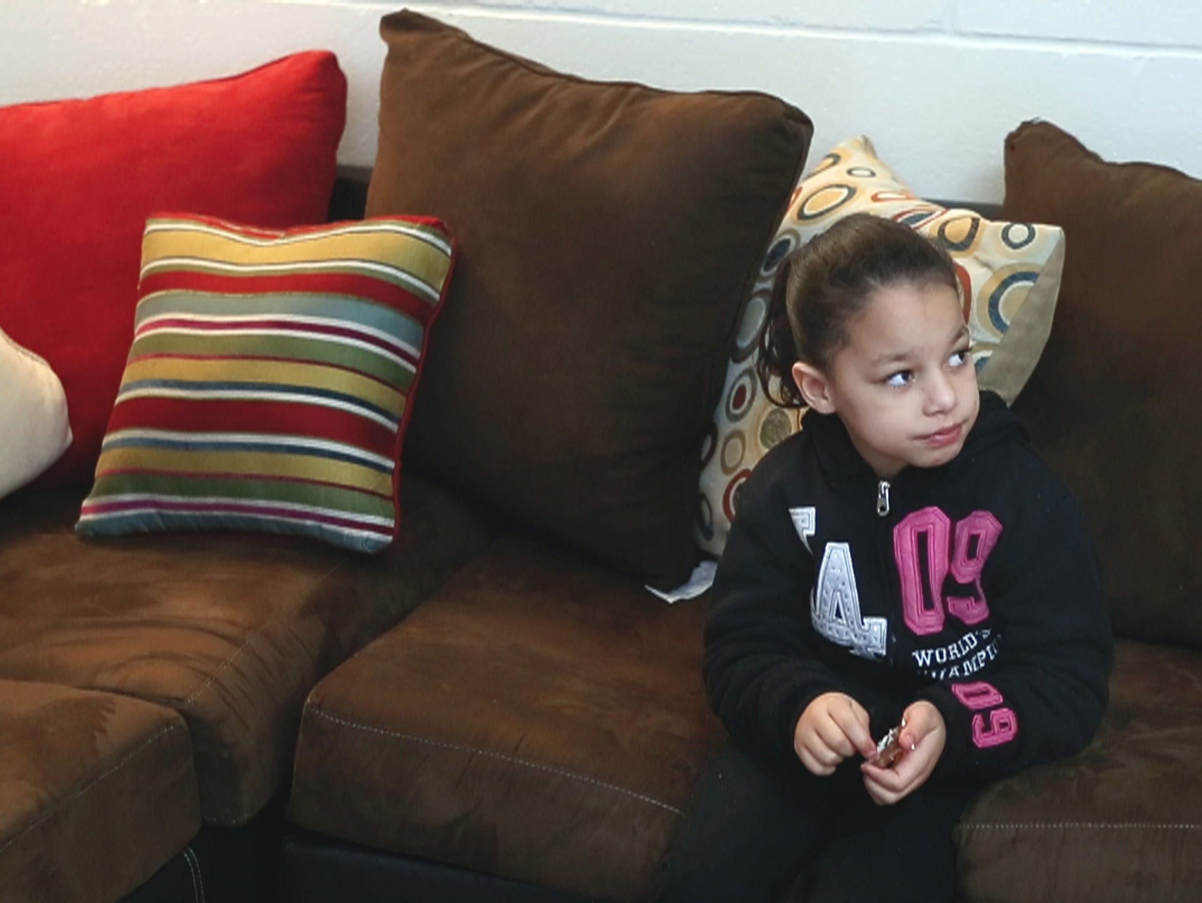 Keilanies Medina, 7, at her home in Rochester.