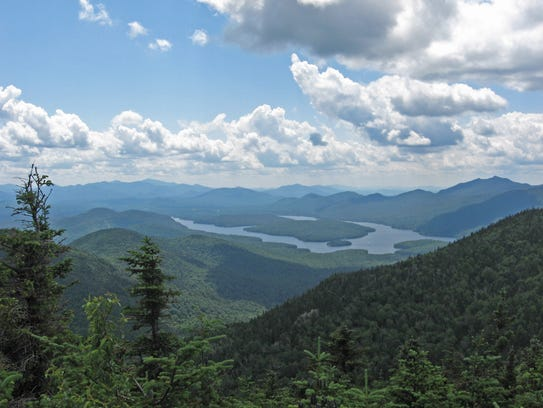 Lake Placid, as seen from Whiteface Mountain.