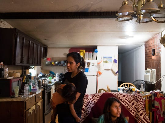 Yahel Salazar stands in her Rutledge, Tenn. home with