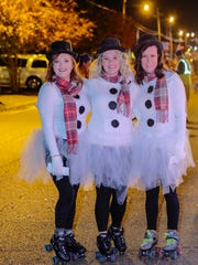 Residents of DeSoto County dressed up for the occasion like this group who wore matching outfits and roller skates.
