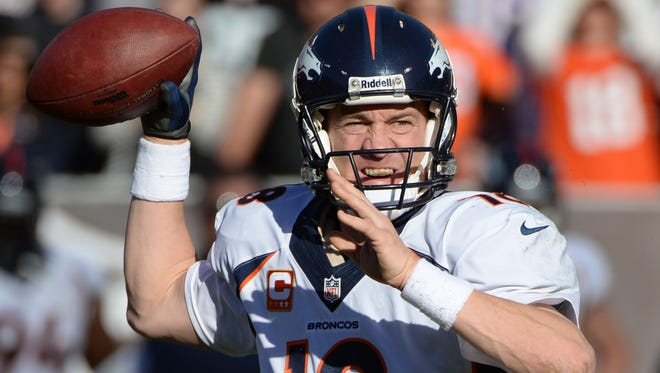 Denver Broncos quarterback Peyton Manning threw for 400 yards and two touchdowns in the AFC Championship Game win against the New England Patriots.