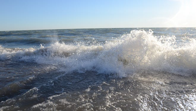 The National Weather Service has issued a gale warning. Waves as high as 6 feet are possible on Lake Huron.