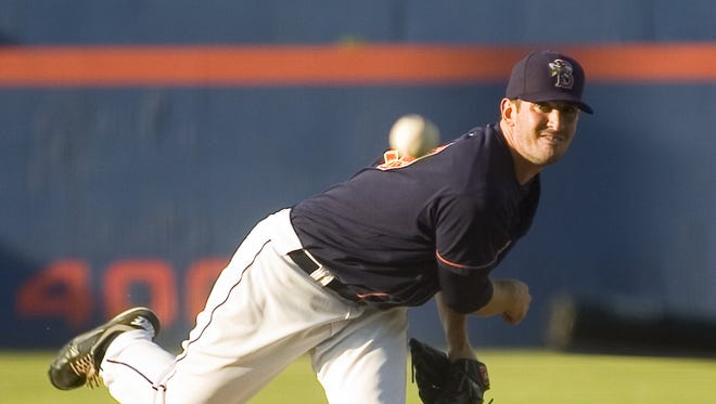 Matt Harvey pitches against the Bowie Baysox at NYSEG Stadium in Binghamton in July 2011.