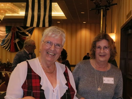 Shirley Pritchett of Redding (left) and Sally Vance of Shasta Lake attend the Shasta Celtic Society's 20th annual Burn's Night Supper on Jan. 21 at the Red Lion Inn in Redding.