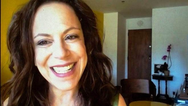 "Singer Bebel Gilberto appears during an interview via zoom in Rio de Janeiro, Brazil, Tuesday, Aug. 11, 2020. Gilberto's latest album ""Agora"" will be released Friday, Aug. 21."