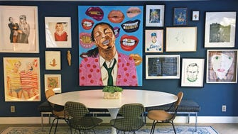 Express yourself with a colorful gallery wall.