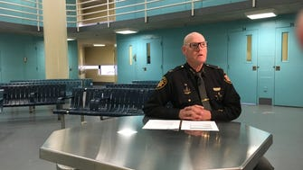 Hamilton County Sheriff Jim Neil sits in one of the pods at the jail and discusses the serious overcrowding issue in the jail