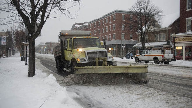 The snow is affecting trash pickup and other routines.
