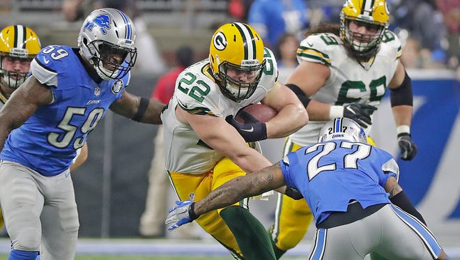 Packers fullback Aaron Ripkowski is one of three backs that could carry a heavy load for Green Bay on Sunday in Dallas.