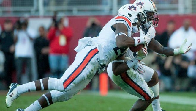 Auburn defensive back Daniel Thomas (24) had two interceptions as a true freshman in last year's Iron Bowl the Tigers lost 30-12, at Alabama.