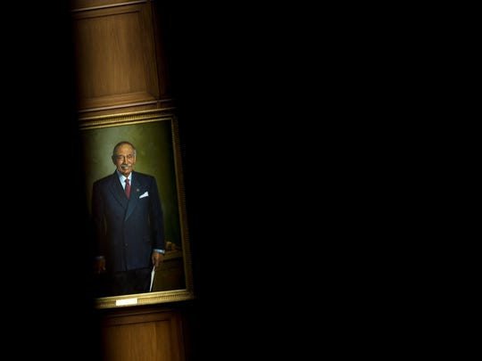 A portrait of Rep. John Conyers (D-MI), a former committee