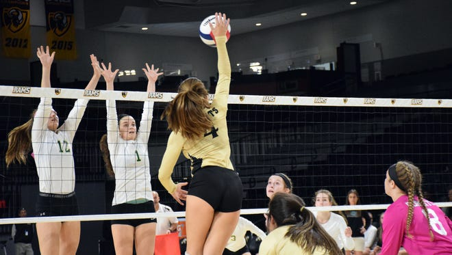 Radford's Trinity Adams was strong at the net and her team won the fourth set, but Wilson Memorial pulled out a state title in the fifth.