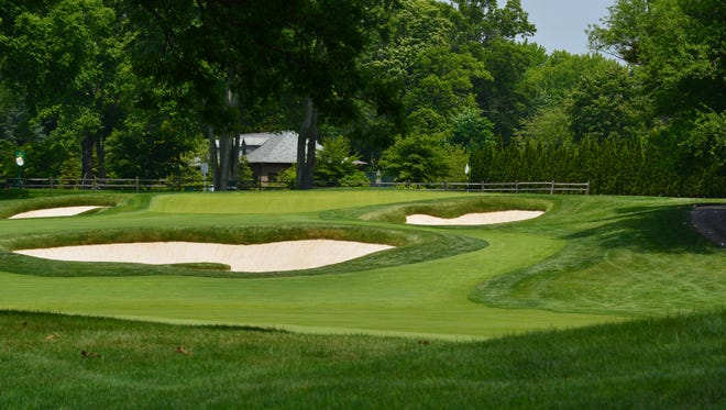 A view of the first hole at Quaker Ridge.
