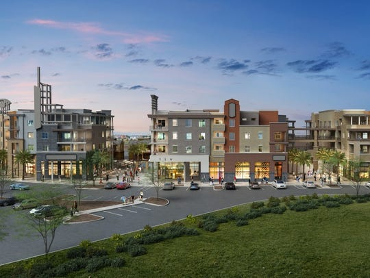 "A rendering of ""Epicenter,"" the new urban project in"