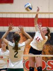 St. Philip's Kirstin Finnila (11) in game action Tuesday