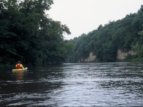 A quiet, scenic float on the Boone River near Webster