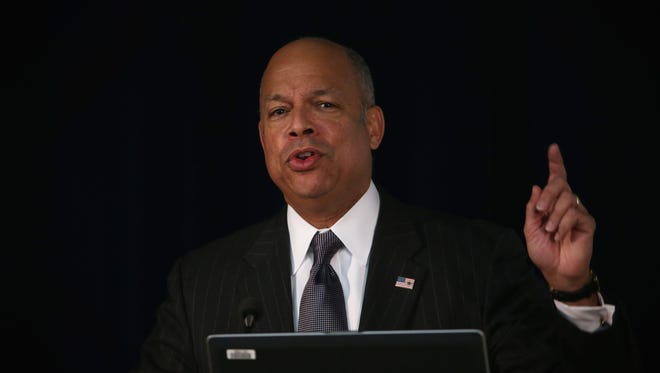 Homeland Security Secretary Jeh Johnson said some members of Congress make the situation worse by speculating about threats to border security that do not exist.