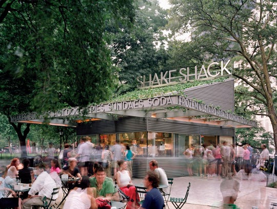 The Shake Shack at Madison Square Park in New York.
